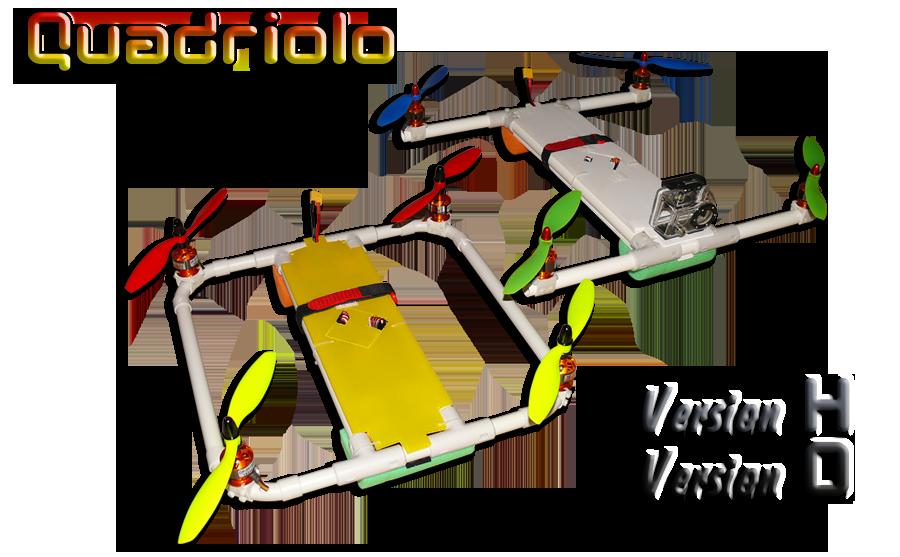 Châssis, Pièces ou Accessoires pour multicoptères Quadriolo_titre